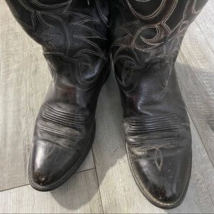 Acme leather western boots men's size 8